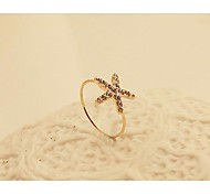 Lureme®Fashion New Style Crystals Starfish Shape Ring