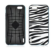 Angibabe 2 in 1 Zebra Pattern Silicon+PC Soft Slim Back Cover for iPhone 6 Case 4.7 inch