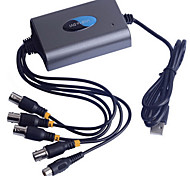 Super USB DVR con 4 de video + 2 canales de audio