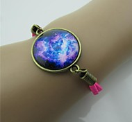 Star Series Vintage Contracted Gem Leather Bracelet