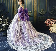 Barbie Doll Mysterious Princess Purple Evening Party Dress