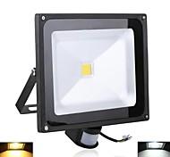 Luces de Alta Densidad Sensor 50 W 1 LED de Alta Potencia 5000 LM 2800-7000 K Blanco Cálido/Blanco Fresco AC 85-265 V