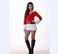 donne carino velluto vestito Babbo Natale costume di Natale con cappello