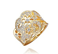 Fashion Women Golden Rhinestone Fashion Rings(Golden)(1Pcs)