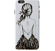 V- back Girl Pattern Case for iPhone 6