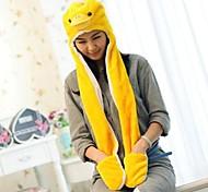 Kigurumi Pajamas Duck Hat Halloween Animal Sleepwear Yellow Print Faux Fur / Polyester Hats Unisex Halloween / Carnival