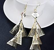2015 Fashion Hollow Multi-Level Delta All-Match Earrings