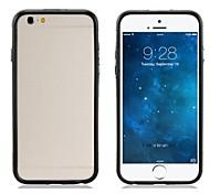 pandaoo caso suave del tpu frontera diseño de parachoques del marco del estilo del color dual para el iphone 6 (colores surtidos)