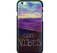 """caso trasero duro """"buen rollo"""" palabras playa y mar modelo PC para el iphone 6"""