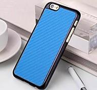 folheado caso duro de fibra de carbono chapeamento para iphone 6 mais (cores sortidas)