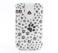 Dog Footprint Pattern Pouch Bag Case with Metal Buckle and Belt Clip for iPhone 6 Plus