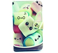 Cartoon Cotton Candy Pattern PU Leather Case Cover with Stand and Card Holder for Nokia Lumia 625 N625