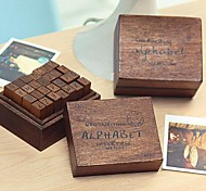 The Capital Letters Pattern Vintage Stamps Set(28 PCS/Set)