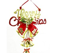 Christmas Decorations The Christmas Tree Pendant Lattice Clock in English(Random Color)