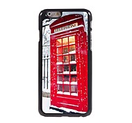 Festival Telephone Booth Pattern Aluminum Hard Case for iPhone 6