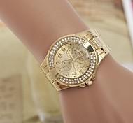 Damenmode Rhinestones Stahlband-Quarz-Armbanduhr