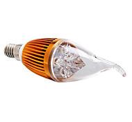 Bombillas Vela Regulable E14 4.0 W 4 LED de Alta Potencia 360 LM Blanco Cálido AC 100-240 V