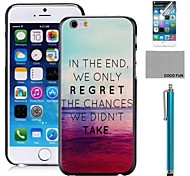 COCO FUN® Painting Anchor Pattern PC Hard Back Case Cover with Screen Protecter, Stand and Stylus for iPhone 6 6G 4.7