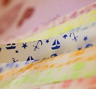 2 x 30 PCS  Fluorescent Effect Boat and Anchor Pattern Lucky Star Origami Materials (Random Color)