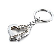 3D Bling Crystal Mysterious Heart Zinc Alloy Keychain(First 10 Customers With Box Added)