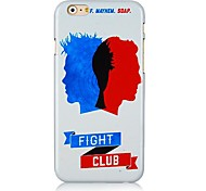 Fight Club Pattern Hard Back Case for iPhone 6