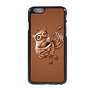 Owl Playing Guitar Pattern Aluminum Hard Case for iPhone 6