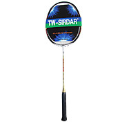 sirdar preto&fibra de carbono ouro treinamento raquete de badminton