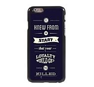lealtad sería hacer que te maten patrón de aluminio del estuche rígido para el iphone 6