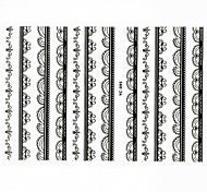 Lovely Nail Art Stickers Decals Wedding Lace Series Nail Accessory for Acrylic Nail Tips DIY Nail Art Decorations NO.095