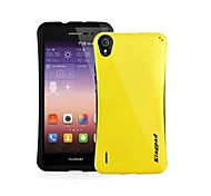 Solid Color PC/TTPU Hard/Soft Back Cover Case with Strap for Huawei P7(Assorted colors)