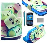 fun® coco sorriso dolce modello pu custodia in pelle con la protezione dello schermo e lo stilo per Samsung Galaxy Lite tendenza 7390/7392