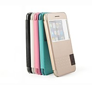 Desoficon PU Leather Full Body Case for iPhone 6 Unique Window Design