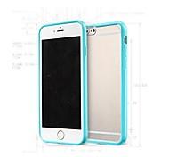 TPU venta caliente colorido marco y una estera tc contraportada delgada translúcida para el iphone 6 más (colores surtidos)