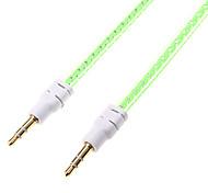 1m de áudio 3,28 pés 3,5 milímetros macho para cabo de áudio de 3,5 mm macho para telefone celular e carro aux
