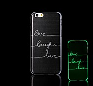 Phrase Pattern Glow in the Dark Hard Case for iPhone 6 Plus