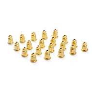 18K Yellow Gold Plated Accessories Jewelry Findings Earrings Plug Black (100pc)
