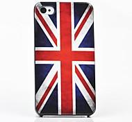 toophone® Joyland a bandeira britânica de volta caso para iPhone 4 / 4S