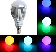 Zweihnde E14 5 W 1 Dip LED 350-400 LM RGB G Dimmable/Remote-Controlled/Decorative Globe Bulbs AC 85-265 V