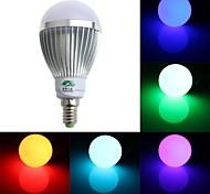 Zweihnde E14 5 W 1 Dip LED 350-400 LM RGB A60(A19) Dimmable / Remote-Controlled / Decorative Globe Bulbs AC 85-265 V