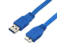superiores macho de 1,5 m 4.92ft usb3.0 a micro USB 3.0 macho cable de datos USB 3.0 HDD de Samsung Nota 3