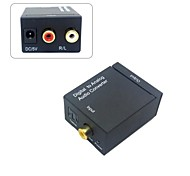 digitale spdif coax coax rca&optische toslink naar analoog L / R audio converter
