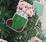 pequeña tarjeta zapatos deseo de Navidad árbol decoraciones adornos