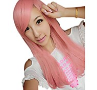 Girl Fashion Straight Synthetic Pink Side Bang Wigs