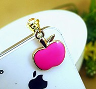 Drip Small Apple Shaped 3.5mm Anti-dust Plug for iPhone 6 and Others(Random Colors)