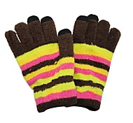 Qianjiatian®Striped Touch Gloves for Mobile Phones