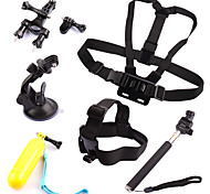 Accessories For GoProChest Harness / Front Mounting / Monopod / Suction Cup / Straps / Hand Grips/Finger Grooves / Accessory Kit /