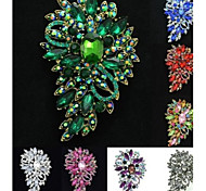 Gorgeous Rhinestone Drop Floral Flower Brooch Broach Pin for Women Party (More Colors)
