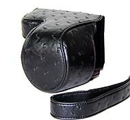 pajiatu® pu pelle di struzzo fotocamera grano della copertura del sacchetto custodia protettiva per sony alpha a5100 A5000 Ilce-5100l Ilce-5000 16-50