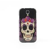 cas arrière dur de style de fleur crâne pour les Samsung Galaxy S i9500