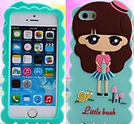 Cartoon Silicone Soft Case for iPhone 6  (Assorted Colors)